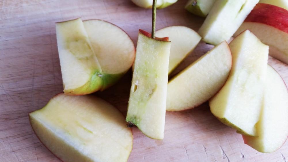 Apfel geschnitten