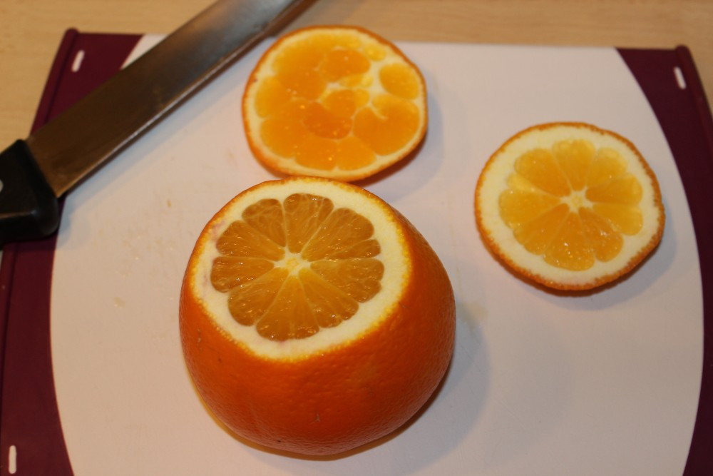 Orange filetieren Schritt 1
