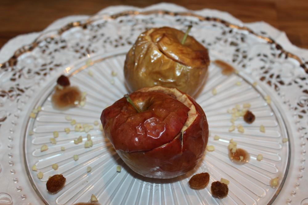 Bratapfel mit Mandelmus