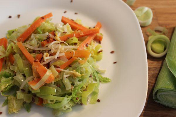 Basisches Superfood Wok-Gemüse