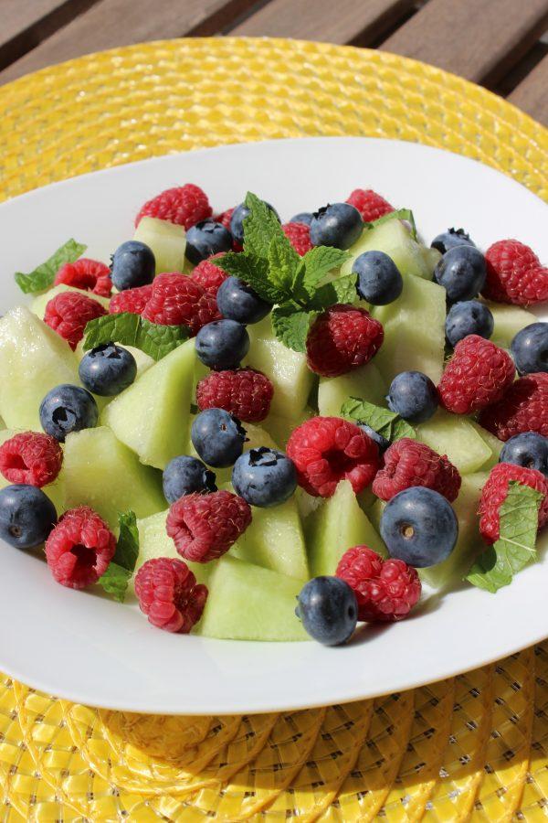Melonen-Beeren-Schale