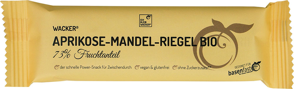 Wacker Aprikose-Mandel-Riegel Bio