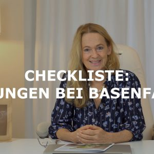 Checkliste Blähungen bei basenfasten