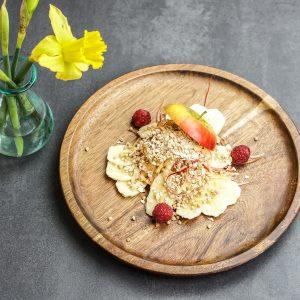 Wacker Müsli mit Banane und Apfel