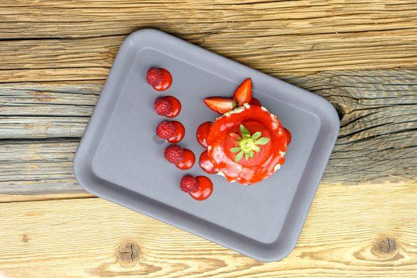 Porridge mit Erdbeere & Himbeere
