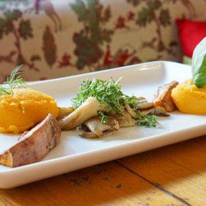 Zweierlei von der Süßkartoffel aus dem Johannesbad Hotel St. Georg
