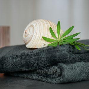 Basenbad: Handtücher