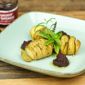 Hasselback Kartoffeln mit Wacker Tapenade