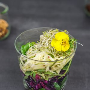 Rotkohl- & Fenchelsalat im Glas