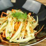 Karotten-Fenchelsalat mit gekeimtem Buchweizen