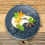 Fenchelpüree mit Quittenragout und Karotten