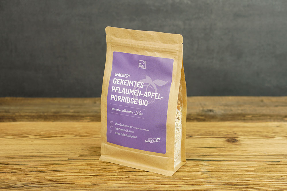 Wacker Gekeimtes Pflaumen-Apfel-Porridge