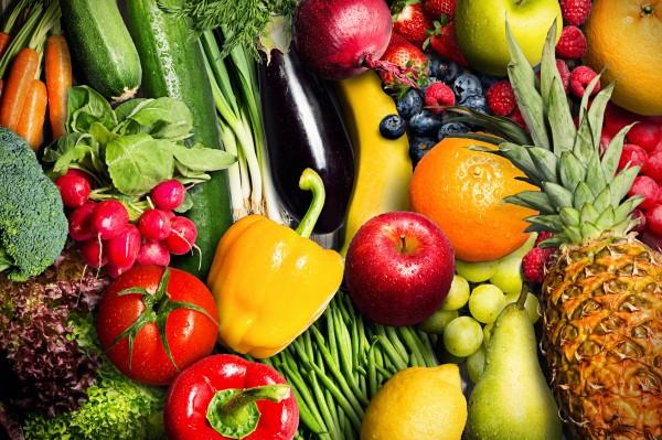 100% basisches Obst und Gemüse - auch vegan