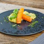 Hasselback Karotten an Kartoffelpüree & Basilikum (3)