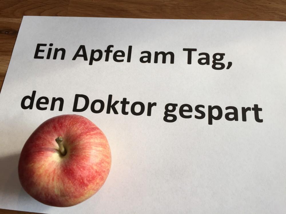 Ein Apfel am Tag, den Doktor gespart
