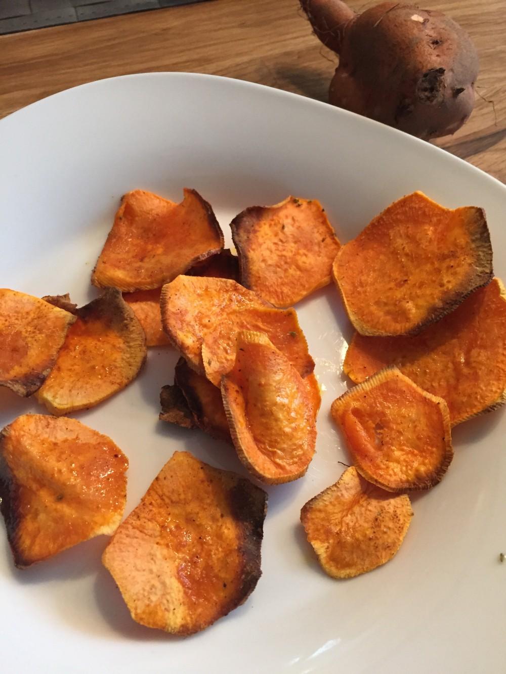 Spicy Süßkartoffelchips