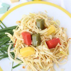 Ostern, Fruchtgelee, Apfelnest, Spaghettimaschine