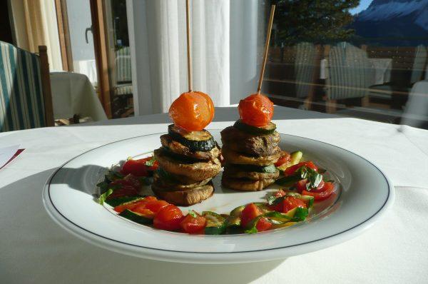 Auberginen-Zucchini-Türmchen