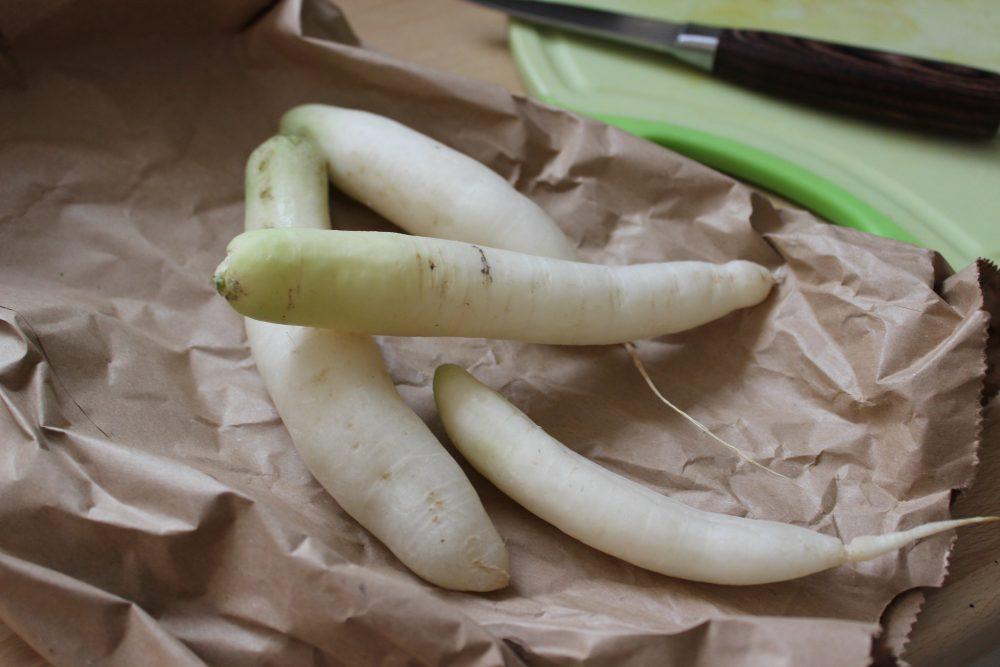 Eiszapfen, basenfasten, Radieschen, Gemüse