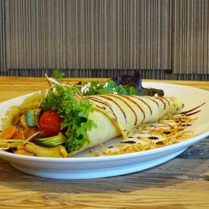 basenfasten Hotel, Gemüse, Pfannkuchen, Wrap