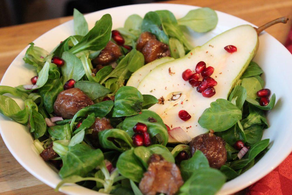 basenfasten deluxe, Winter, Salat, Sumach, Granatapfel