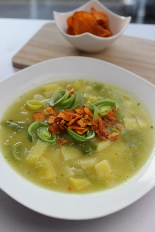 basenfasten, Suppe, Lauch, Süßkartoffel