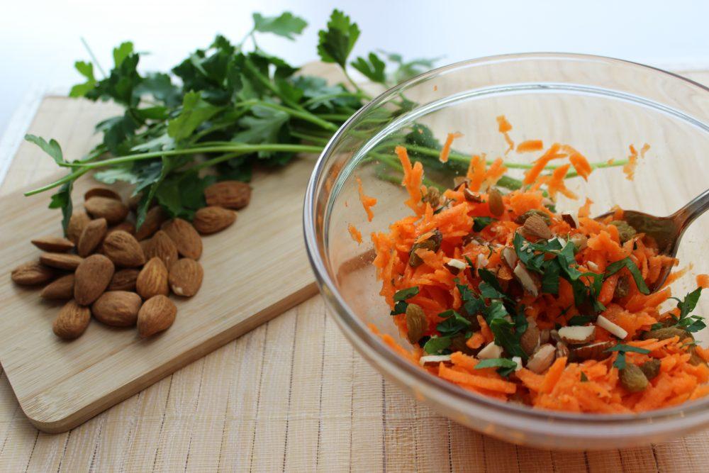 basenfasten, Karotten, Mandeln