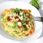 Gemüsespaghetti, Basenbildner, Pasta Tricolore