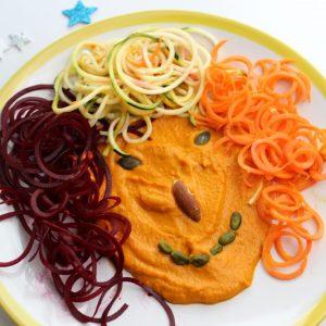 basenreich, Gemüsespaghetti, Kinder