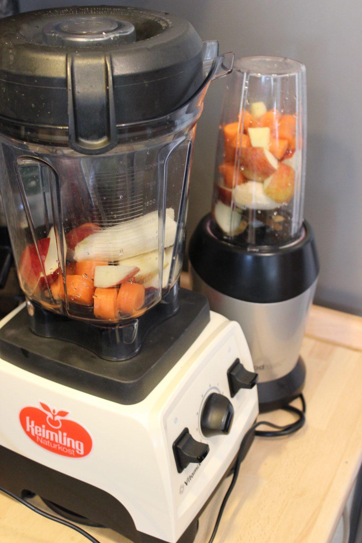 Apfel-Karotten-Ingwer-Smoothie