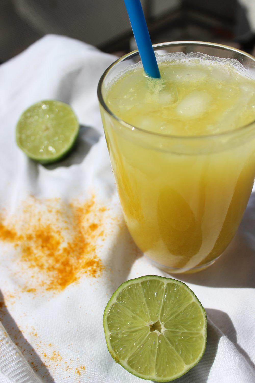 Limonade, Kurkuma, Zitrusfrüchte, basenfasten