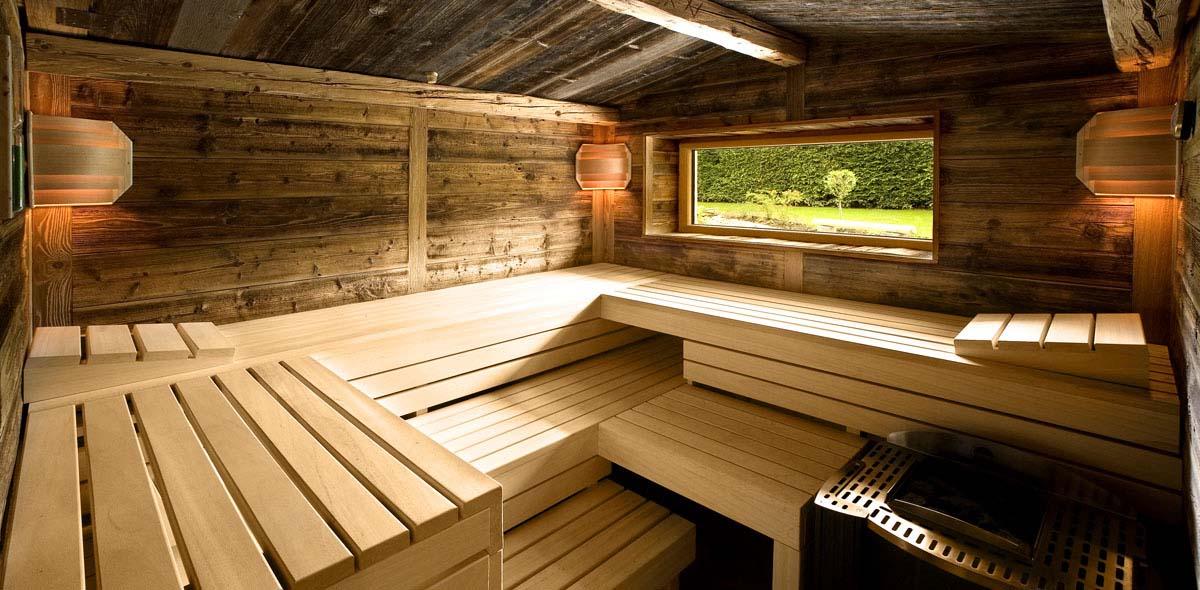 Eine Sauna im Natur-Landhaus Krone